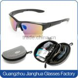 Fashionable high impact resistant prescription replacable sports sunglasses with hard EVA box