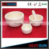 RoHS CERTIFICATION ALUMINA MORTAR WITH PESTLE IN STOCK