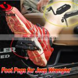 Car accessories feet peg for jeep wrangler black color metal material fits 07-15 JK