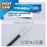 low loss RG223 coaxial cable 50 ohms with 0.9mm conductor/2.95mm dielectric/PVC jacket used for CCTV