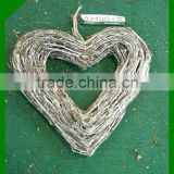 natural wicker heart shaped bulk Christmas wreaths