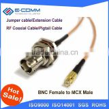 "High Quality BNC Female Jack Connector Switch MCX Male Plug Convertor RG316 15CM 6"" Adapter"