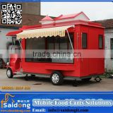 Factory price customized mobile food cart-used electric food truck for sale