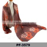 Wholesale Scarf Hijab Flower Muslim Embroidery Scarf Custom Made Scarf Factory China
