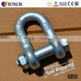 US Standard G2150 Bolt Type Electric Galvanized Steel Drop Forged D Shackle                                                                         Quality Choice