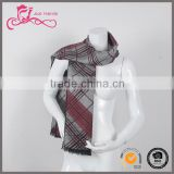 wholesale keep warm ventilate gingham plaid knitting polyester men/women Christmas gift scarf pashmina wholesale