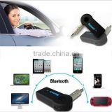 2015 Hot Sale 3.5mm AUX Bluetooth Wireless Stereo Audio Music Receiver Adapter for iPhone iPod