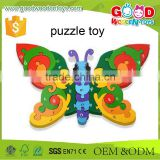 Children's Traditional Toys Learning Lower-case Colorful Butterfly Wooden Letter Alphabet Puzzle                                                                         Quality Choice