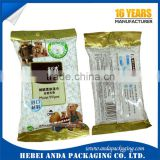 Printed laminated wet tissue plastic bag side gusset /customized wet wipes packaging material aluminum foil                                                                                                         Supplier's Choice