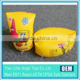 yellow inflatable swimming armbands for kids