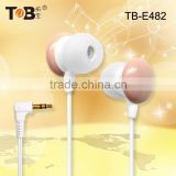 2015 hot selling earphones, in ear earphone,cute earphone,, new products from china earphone, mobile tv stand earphone