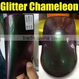 1.52*20M Chameleon vinyl sticker with air Channels, chameleon pearl glitter car wrap film , chameleon wrap glitter film