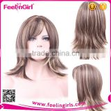 High quality synthetic long and short women wig blonde