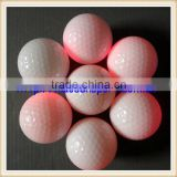 two piece flashing golf ball glow golf ball with several colors to flash