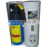 Home use 1KG Aluminium powder fire extinguisher with fire blanket