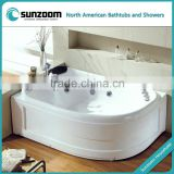 SUNZOOM double slipper bath tubs,double ended bath tubs,double slipper pedestal tub