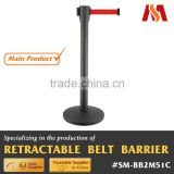 Manufacturing Access Security Protection Stainless Steel Retractable Belt Crowd Control Barrier Post Stanchion
