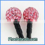 Wholesale Bling Bling Crystal Pave Anti Dust Jack Plug Headset Ear Cap Dustproof Charms For Iphone Cell Mobile Phone MDP-P1002