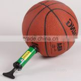 Convenient dual action air pump for football, basketball and balloon