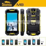 SNOPOW M8 IP68 waterproof 4.5 inch walkie talkie 5 KM android 4.4 NFC quad core water proof shock proof cell phone