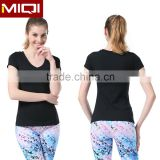 Hot Sale Custom Women Gym Wear Workout Clothing Body Fit Blank V Nect T Shirt With Great Stretch