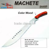 MCT-001 hot selling stainless steel fixed blade machete with color wood handle                                                                         Quality Choice