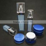 Plastic Cosmetic Bottle, Square Shaped Acrylic Lotion Pump Bottle and Round Shaped Acrylic Cream Jar