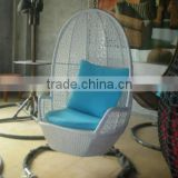 Hot sell all weather outdoor indoor furniture garden white wicker hanging metal rattan swing chairs