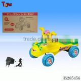 Cheap new style animal ride on car with transparent wheels and light & music electric battery cars