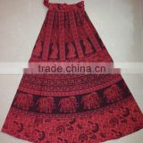 Perfect summer wear beach wear Cotton skirt wrap on skirt sarong style skirt peasant skirt hand block print