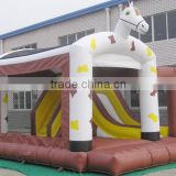 best sell white inflatable horse bouncer for sale, inflatable bouncer and slide combo, bounce house