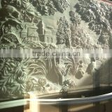 Manor decoration custom make sandstone relief wall sculpture