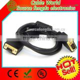 gold plated VGA male to female extension cable for Monitor/PC/projector with ferrite core