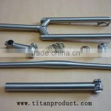 Titanium Bike Parts, Bicycle Parts (fork+stem+handlebar+seat clamp+seatpost+headset+spacer)