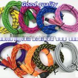 Colorful 1M /2m/3m Fabric Nylon Braided Micro USB Cable for Samsung moblile phone