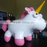 factory sale cheap pink pvc inflatable unicorn, float animal toys,