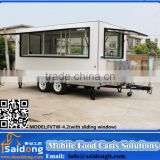 Best Service Street Vending Machine Hot Dog cart Ice cream trailer pizza vending Food Van For Sale