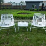 Guangdong foshan manufacturing outdoor new balcony furniture set white plastic outdoor table and chair