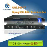 Hot sale MPEG2 to H.264 Transcoder, IPTV transcoder for streaming transcoding in Headend TV system COL5081T