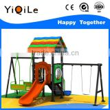 House shaped outdoor swing bench romantic outdoor canopy swing colorful outdoor baby swing frame