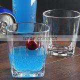 Clear Concave Base Tumblers Bar Round Beer Mugs Plastic Stackable Table Glass Beverage Cups Club Drinking Cups