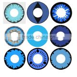 Wholesale Yearly Blue series Crazy Contact Lenses Cosplay contact lens Halloween contacts