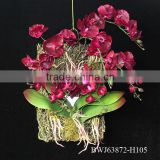 Wholesale artificial orchid flower,artificial flower orchid vanda for home decoration,hot sale mutiple color silk flower