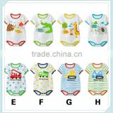 new summer baby boy rompers cute cartoon animal deer cow print short sleeved Jumpsuit climb clothes