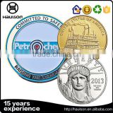 Free design sample offered concave convex bronze material silver plating reeded edge commemorative metal round coin