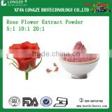 High-quality Herbal extract Rose Flower Extract Powder 5:1 10:1 20:1 spray-dried rose flower powder