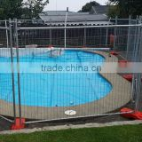 Steel pipe structure swimming portable pools fence / galvanized temporary pool panels for sale