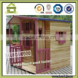 SDPH06 Outdoor Wooden Children Playhouse for Kids Game Slide