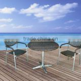 Brown Aluminium Wicker Garden Table&Chair SetL90614-5