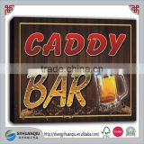 CADDY Name Home Bar Pub Beer Mugs Stretched wooden Print Sign